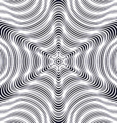 Background with black chaotic lines moire style vector