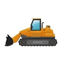 backhoe machine icon vector image