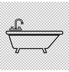 Bathtub line icon vector