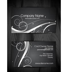 beautiful floral design business card template vector image