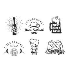 beer festival oktoberfest set vector image