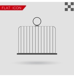 Bird cage icon Flat Style vector image