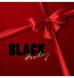 Black Friday sale banner design template vector image