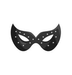 Black leather mask fetish stuff for role playing vector