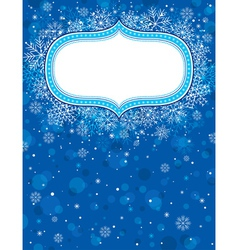 blue christmas background with christmas elements vector image