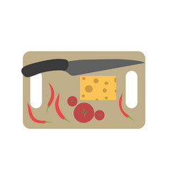 Board chopping cutting food kitchen cooking vector