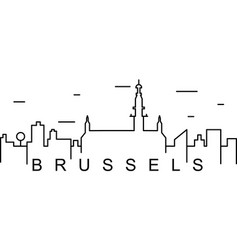 Brussels outline icon can be used for web logo vector