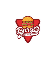 burger logo design vector image