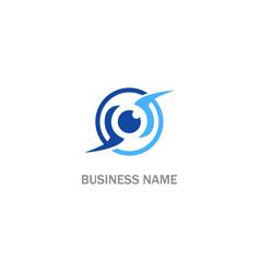 Cam watch eye sign logo vector