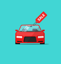 Car or auto sale flat cartoon vector