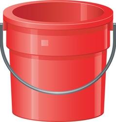 Cartoon bucket vector