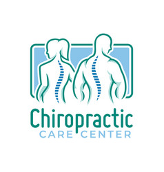 Chiropractic logo spine health care medical vector