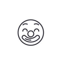 Circus emoji concept line editable concept vector