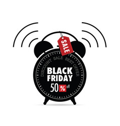 clock with black friday on it vector image