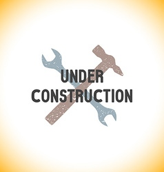 color under construction sign template vector image vector image