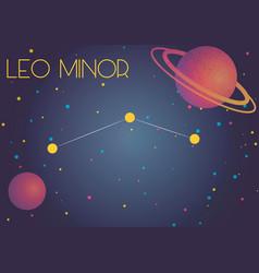 Constellation leo minor vector