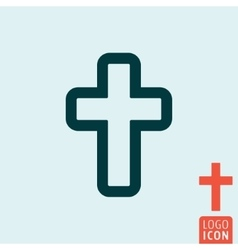 Cross icon isolated vector