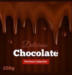 Dark chocolate background print vector
