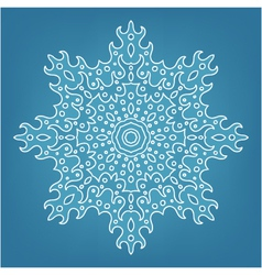 decorative Christmas snowflake vector image