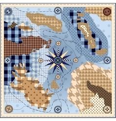 Design square neckerchief vector image