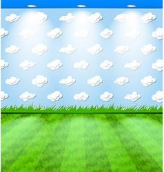 Eco themed room with grass vector