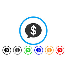 financial message rounded icon vector image