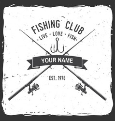 fishing sport club vector image