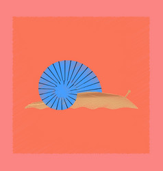 flat shading style snail vector image