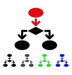 Flowchart flat icon vector