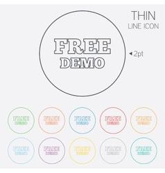 Free Demo sign icon Demonstration symbol vector image