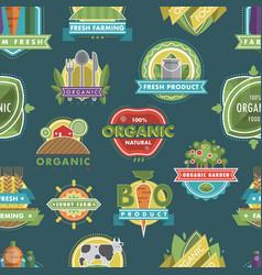 fresh healthy organic vegan food logo nature vector image