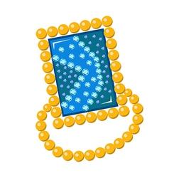 Gemstone golden rim brooch vector image vector image