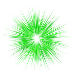 Green abstract explosion design background vector