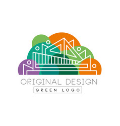 green logo original design logo template colorful vector image