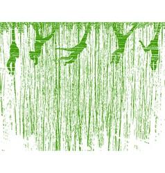 hanging around vector image
