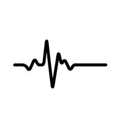 heart rhythm electrocardiogram ecg - ekg signal vector image
