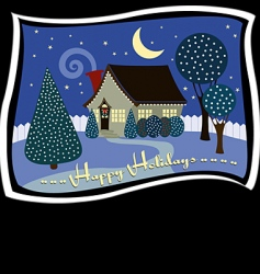 holiday cottage vector image vector image