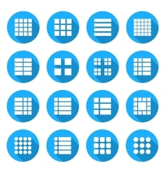 Icons menu list vector