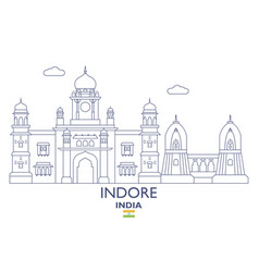 Indore city skyline vector