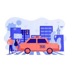 Intelligent transportation system concept vector