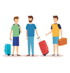Isolated travel boys design vector