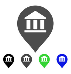 Library map marker flat icon vector