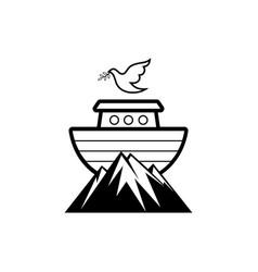 Logo noahs ark biblical vector