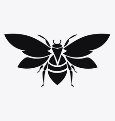 logo of the bee black and white bee icon vector image