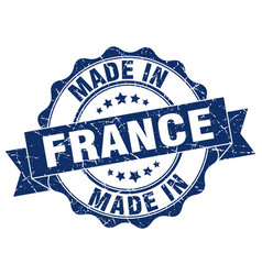 made in france round seal vector image