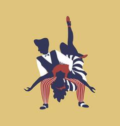 Man and woman dancing boogie woogie vector