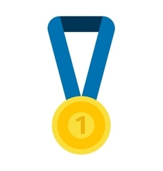 Medal isolated vector image