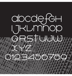 minimalist alphabet White thin letters vector image