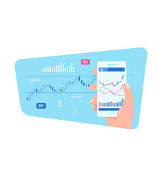 mobile stock or forex trading concept banner vector image