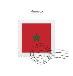 Morocco flag postage stamp vector